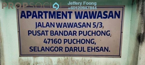 Apartment For Sale in Taman Wawasan, Pusat Bandar Puchong Freehold Unfurnished 3R/1B 150k
