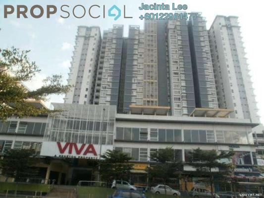 Serviced Residence For Sale in Viva Residency, Sentul Freehold Semi Furnished 3R/2B 445k