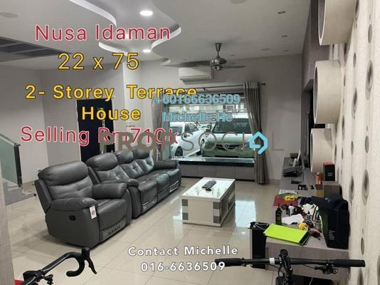 Terrace For Sale in Nusa Idaman, Iskandar Puteri (Nusajaya) Freehold Semi Furnished 4R/3B 710k