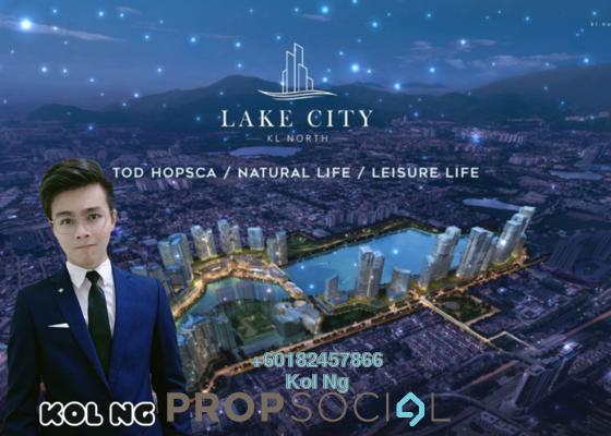 Condominium For Sale in Aradia Residence @ Lake City, Kuala Lumpur Freehold Semi Furnished 3R/2B 707k