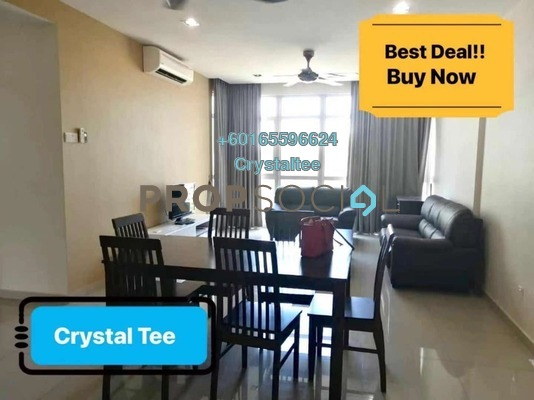 Condominium For Rent in The Peak Residences, Tanjung Tokong Freehold Fully Furnished 3R/2B 1.8k