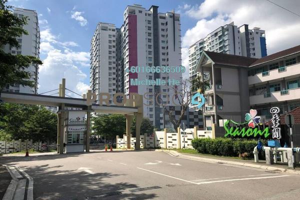Condominium For Rent in Seasons Luxury Apartments, Johor Bahru Freehold Semi Furnished 2R/2B 1k
