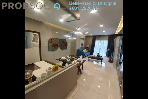 Condominium For Sale in Paraiso @ The Earth Bukit Jalil, Bukit Jalil Freehold Semi Furnished 4R/2B 547k