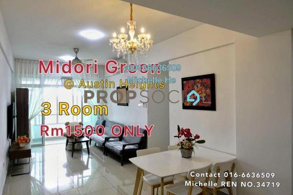 Condominium For Rent in Midori Green @ Austin Heights, Tebrau Freehold Fully Furnished 3R/2B 1.5k