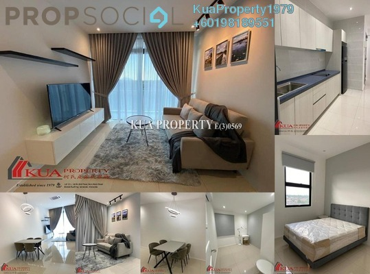 Condominium For Rent in Rivervale Condominium, Kuching Freehold Fully Furnished 2R/1B 1.9k