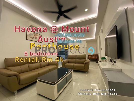 Serviced Residence For Rent in Havona, Tebrau Freehold Fully Furnished 5R/5B 4k
