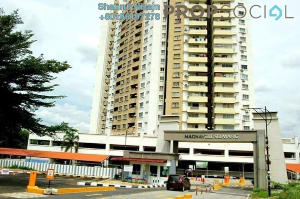 Condominium For Sale in Magna Ville, Selayang Freehold Semi Furnished 3R/2B 310k