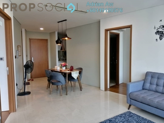 Condominium For Rent in Vortex Suites & Residences, KLCC Freehold Fully Furnished 2R/2B 2.1k