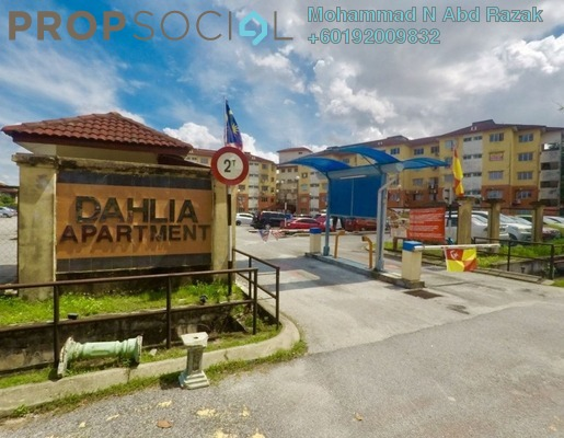 Apartment For Sale in Apartment Dahlia, Bukit Beruntung Freehold Semi Furnished 3R/2B 220k