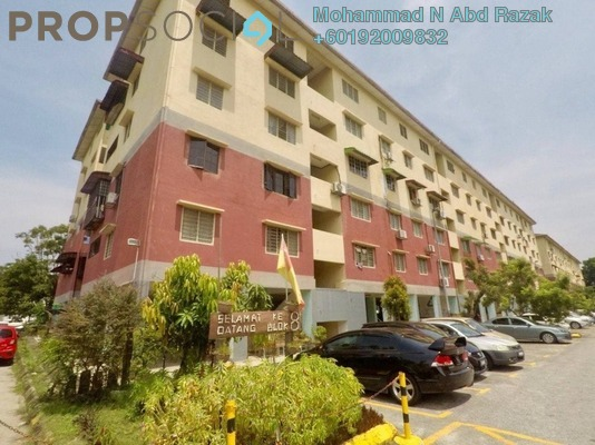 Apartment For Sale in PKNS Seksyen 7 Flat, Shah Alam Freehold Semi Furnished 3R/2B 210k