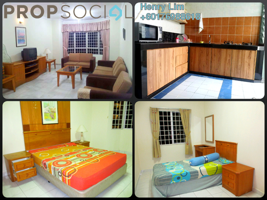 Condominium For Rent in Endah Regal, Sri Petaling Freehold Fully Furnished 3R/2B 1.5k