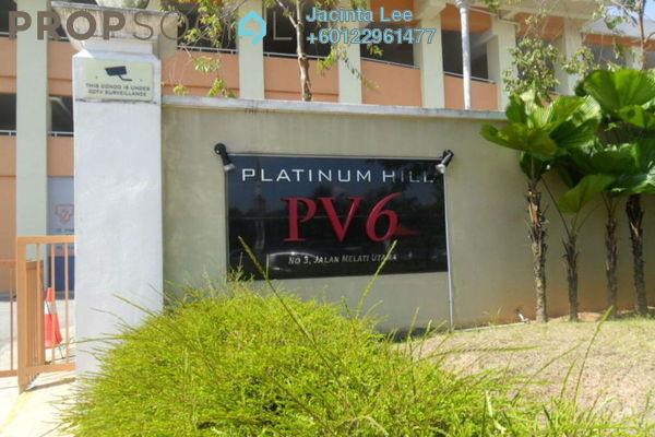 Condominium For Sale in Platinum Hill PV6, Setapak Freehold Semi Furnished 4R/2B 350k