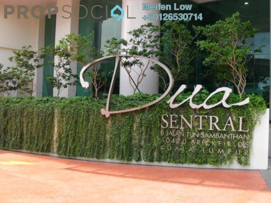 Serviced Residence For Sale in Dua Sentral, Brickfields Freehold Fully Furnished 1R/1B 500k