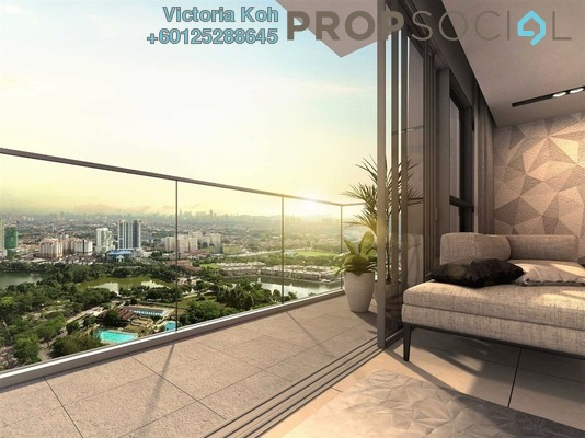 Serviced Residence For Sale in Panorama Residences, Kelana Jaya Freehold Semi Furnished 2R/2B 725k
