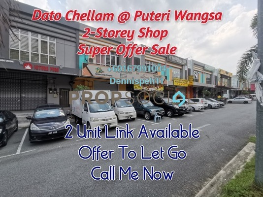 Shop For Sale in Taman Dato Chellam, Ulu Tiram Freehold Unfurnished 0R/0B 680k