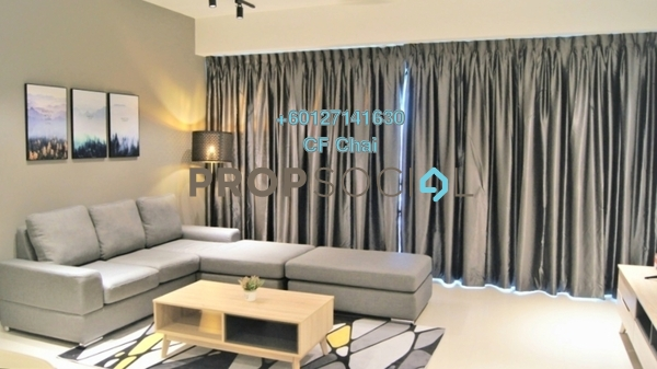 Serviced Residence For Rent in Iskandar Residences, Medini Freehold Fully Furnished 3R/2B 2.2k