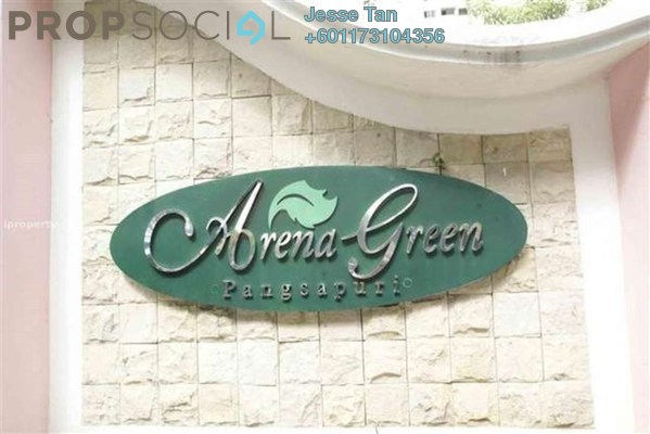 Condominium For Sale in Arena Green, Bukit Jalil Freehold Semi Furnished 3R/2B 300k