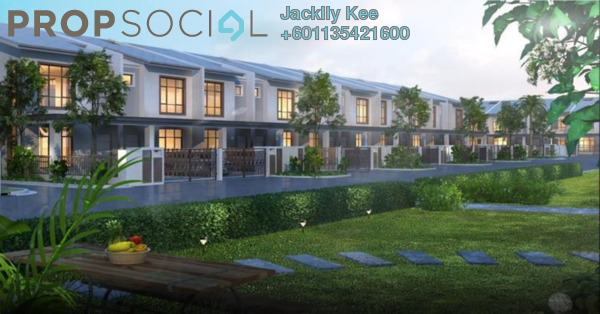 Superlink For Sale in Brogania Terrace Homes, Semenyih Freehold Unfurnished 4R/3B 518k