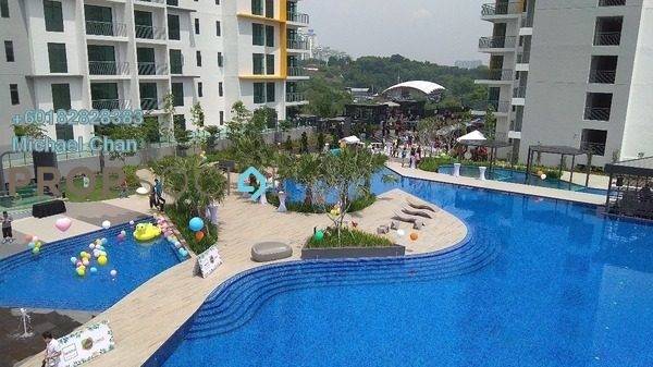 Serviced Residence For Rent in Parkhill Residence, Bukit Jalil Freehold Fully Furnished 3R/2B 2.2k