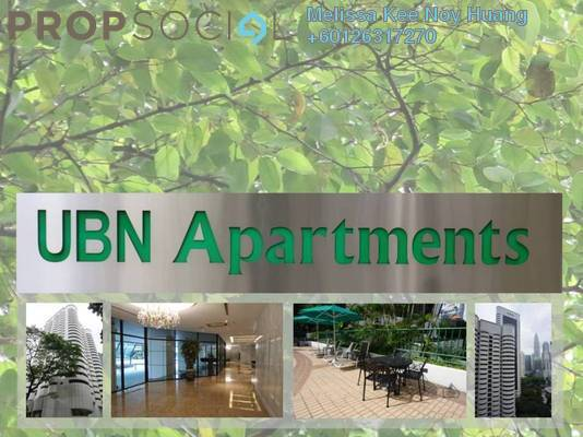 Condominium For Rent in UBN Apartment, KLCC Freehold Fully Furnished 4R/4B 7.2k