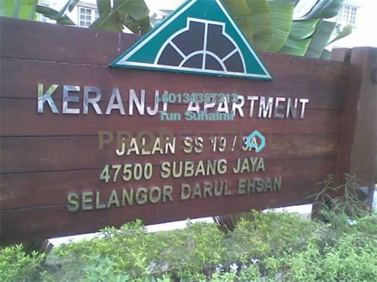 Apartment For Sale in Keranji Apartment, Subang Jaya Freehold Semi Furnished 3R/2B 410k