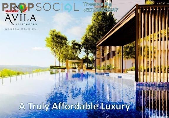 Serviced Residence For Sale in Sunway Avila Residences, Wangsa Maju Freehold Unfurnished 2R/2B 450k