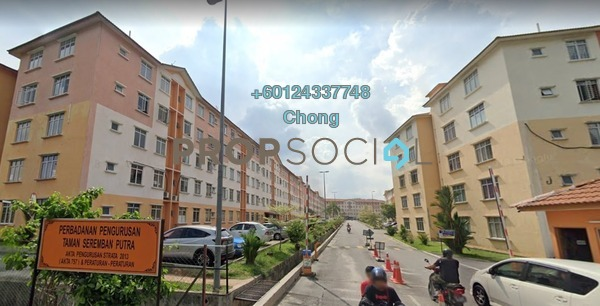 Apartment For Sale in Seremban Putra Apartments, Seremban Freehold Unfurnished 3R/2B 106k