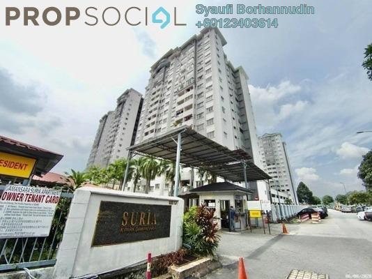 Apartment For Sale in Suria KiPark Damansara, Kepong Leasehold Unfurnished 3R/2B 310k