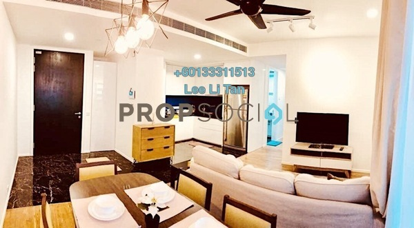 Condominium For Rent in Arcoris, Mont Kiara Freehold Fully Furnished 2R/2B 4k