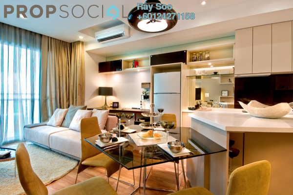 Condominium For Sale in VERVE Suites, Mont Kiara Freehold Fully Furnished 2R/2B 900k