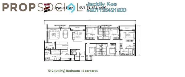 Condominium For Sale in Tria Residences @ 9 Seputeh, Old Klang Road Freehold Fully Furnished 5R/7B 2m