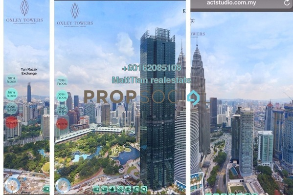 Serviced Residence For Sale in Oxley Towers, Kuala Lumpur Freehold Semi Furnished 1R/1B 1.35m