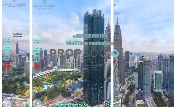 Serviced Residence For Sale in Oxley Towers, Kuala Lumpur Freehold Semi Furnished 2R/2B 2.01m
