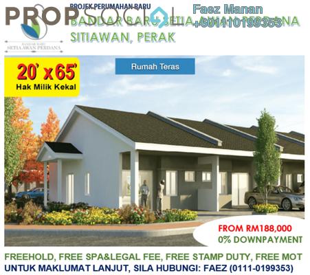 Terrace For Sale in Bandar Baru Setia Awan Perdana, Perak Freehold Unfurnished 3R/2B 188k