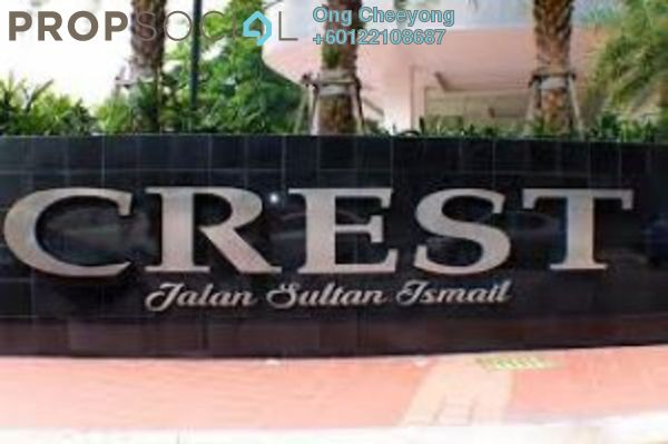 Condominium For Rent in Crest Jalan Sultan Ismail, KLCC Freehold Semi Furnished 2R/2B 3k