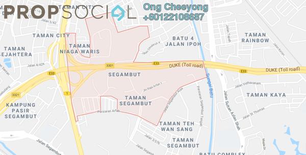 Land For Sale in Taman SPPK, Segambut Freehold Unfurnished 0R/0B 25.6m