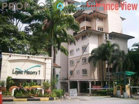 Condominium For Sale in Lojing Heights 1, Wangsa Maju Freehold Semi Furnished 3R/2B 520k