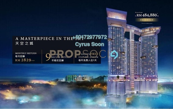 SoHo/Studio For Sale in Grand Ion Majestic, Genting Highlands Freehold Fully Furnished 1R/1B 448k