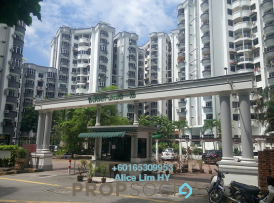 Condominium For Sale in Jade View, Bukit Gambier Freehold Semi Furnished 3R/2B 293k
