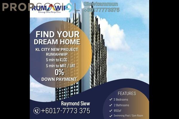 Apartment For Sale in Taman Maluri, Cheras Freehold Semi Furnished 3R/2B 300k