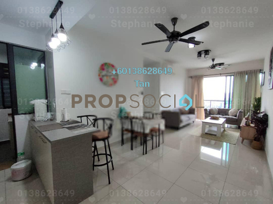 Serviced Residence For Rent in KL Traders Square, Kuala Lumpur Freehold Fully Furnished 3R/2B 2k