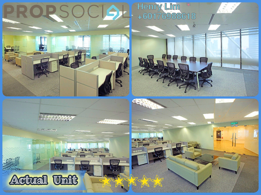 Office For Rent in Ilham Baru Tower, KLCC Freehold Fully Furnished 0R/0B 68k