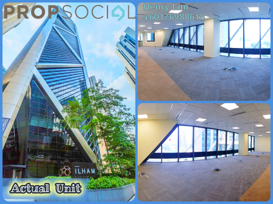 Office For Rent in Ilham Baru Tower, KLCC Freehold Semi Furnished 0R/0B 21k