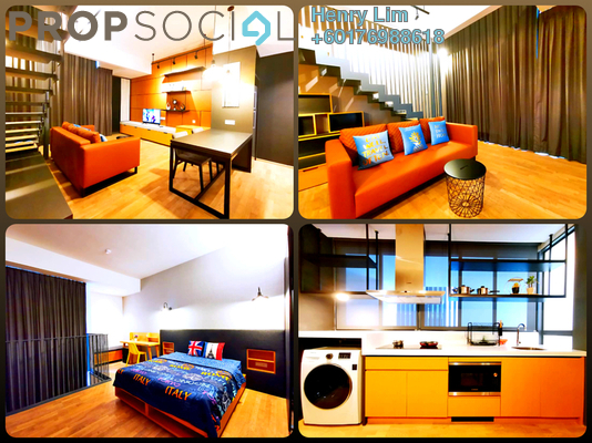 Duplex For Rent in TWY Mont Kiara, Mont Kiara Freehold Fully Furnished 2R/1B 3k