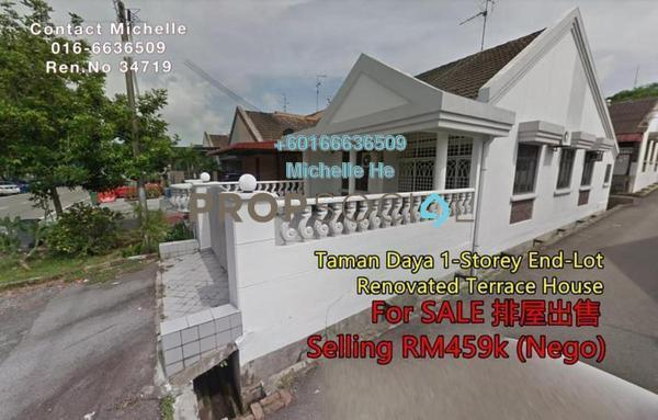 Terrace For Sale in Taman Daya, Tebrau Freehold Semi Furnished 3R/2B 459k