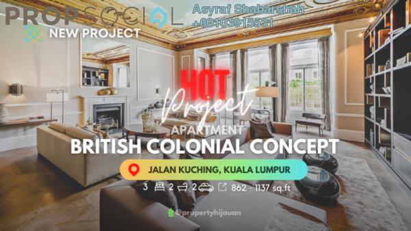 Condominium For Sale in Tuan Residency, Jalan Kuching Leasehold Unfurnished 3R/2B 408k
