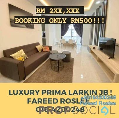 Apartment For Sale in Larkin Indah, Johor Bahru Freehold Semi Furnished 4R/2B 250k