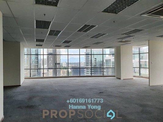 Office For Rent in The Vertical, Bangsar South Freehold Semi Furnished 0R/0B 16k