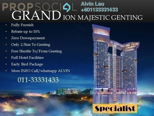 SoHo/Studio For Sale in Grand Ion Majestic, Genting Highlands Freehold Fully Furnished 1R/1B 446k