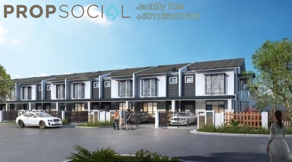 Superlink For Sale in Brogania Terrace Homes, Semenyih Freehold Semi Furnished 4R/3B 448k